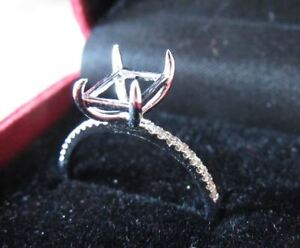 BRAND NEW-  Custom diamond white gold engagement ring SETTING
