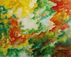 """Painting """"Autumn"""", colourful, original with a signature, abstract"""