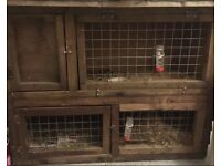 large solid wood guinea pig/ rabbit hutch