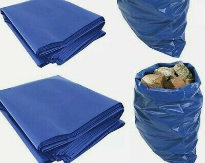 20 pc Rubble Sacks Blue Builders Rubbish Waste Heavy Duty Strong Bags Tough Bulk