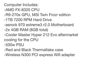 Gaming pc 3.5 ghz