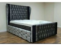 Silverstone crushed velvet bed