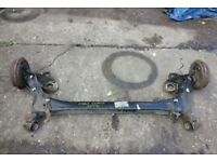VW POLO 6R REAR AXLE/BEAM WITH DRUM BRAKES, 2009, 2010, 2011, 2012, 2013, 2014.