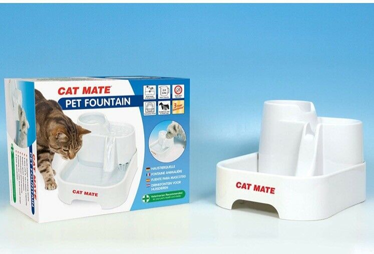 Cat Supplies Cat Mate Fresh Water Drinking Fountain For Cats And Small Dogs New Dishes, Feeders & Fountains