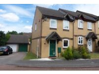 2 bed house with garden and garage