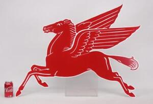 Mobil gas Pegasus steel enameled sign, near mint