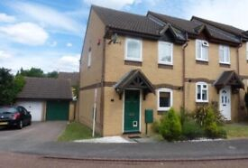 2 bed house with garage and garden