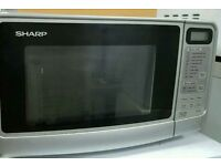 Sharp silver Microwave