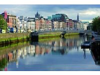 1 return flight ticket, Chicago - Dublin, 17-25 Mar