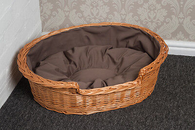 X Small Wicker Cat Bed Basket with Cushion FREE DELIVERY