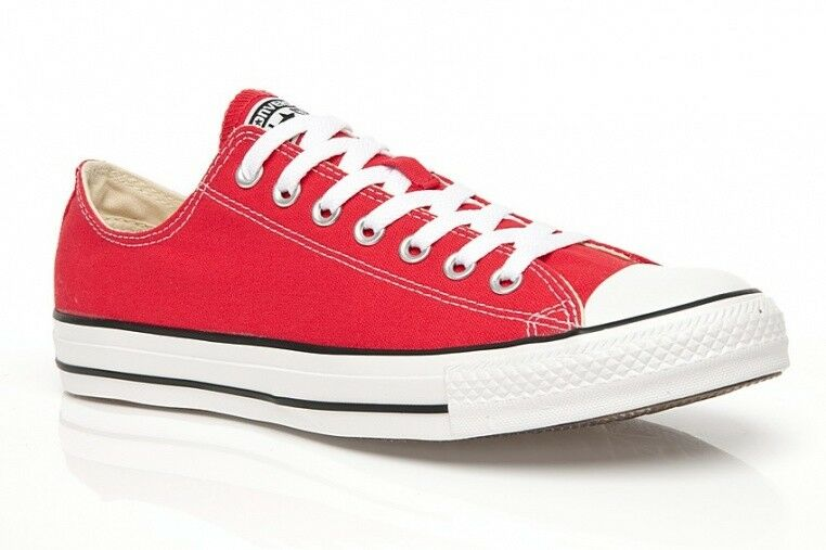 Converse All Star Ox Scarpe Chucks RED ROSSO m9696