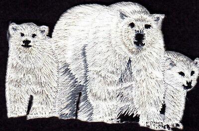 POLAR BEAR FAMILY Iron on Patch Animals Bears Cubs Arctic Zoo - Zoo Animal Crafts