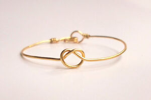 4 Gold Plated infinity bracelets, Bridesmaids gift! Wedding