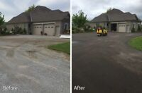 Recycled Asphalt or Tar and Chip Driveways and Parking Lots