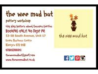 the wee mud hut pottery workshop