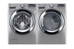 NEW LG front load washer & dryer set PRICE $1699