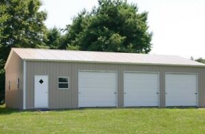 Brand new steel buildings for work shop/storage, etc.