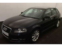 Black AUDI A3 SALOON 1.4 1.6 1.8 2.0 TFSI Petrol S LINE FROM £20 PER WEEK!