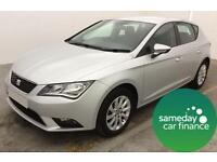 £181.13 PER MONTH SILVER 2013 SEAT LEON 1.6 TDI SE 5 DOOR MANUAL DIESEL