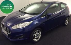 ONLY £155.10 PER MONTH BLUE 2013 FORD FIESTA 1.0 ZETEC 3 DOOR PETROL MANUAL