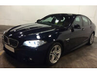 Black BMW 530d M Sport Auto Diesel Leather 2015 FROM £109 PER WEEK!
