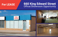For Lease 660 King Edward Street - Showroom/Office Opportunity
