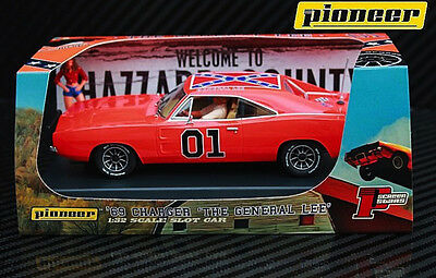 "Pioneer ""The General Lee"" 1969 Dodge Charger DPR 1/32 Scale Slot Car P016"