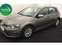 £203.02 PER MONTH GREY 2013 VW GOLF 1.2 TSI S START/STOP 5 DOOR PETROL MANUAL