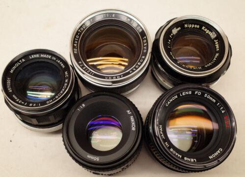 Prime Lens Repair SLR Camera Nikon Canon Pentax Minolta Olympus REPAIR SERVICE