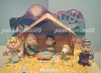 HALLMARK Peanuts Gallery Snoopy Christmas Nativity Figurine Set NEW