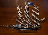 For Sale   RED JACKET Clipper Ship (under glass)