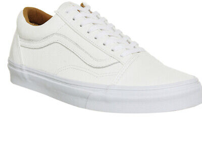 Vans Old Skool White Leather Trainers Size 7 40