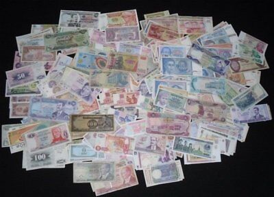 25 Different World Banknotes Paper Money
