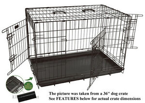 EliteField-48-3-Door-Folding-Dog-Crate-Cage-Kennel-with-RUBBER-FEET