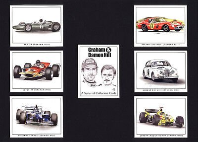 Graham and Damon Hill  - Collectors Cards