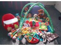 Baby toy bundle and Karibu seat