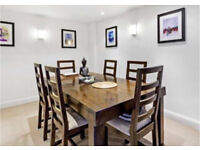 6 seater (extendable to 8) American Chestnut dining table