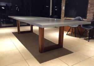 Designer concrete tables, countertops and much more. Custom orde