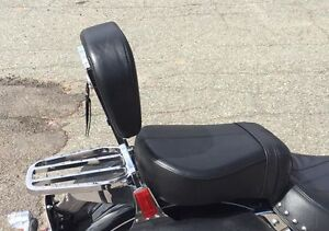 Passenger pad, sissy bar and luggage rack off a 2009 heritage so