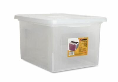 Lorell Letter Legal Clear Plastic File Box Storage Organizer Home Office Cheap