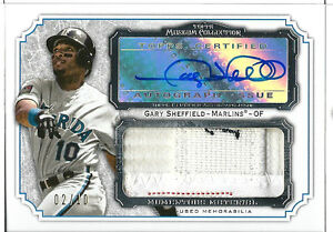2012 Topps Museum Collection Gary Sheffield Jumbo Auto Jersey Logo Patch 2/10