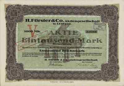 H. Förster Klaviere Flügel Piano 1920 Leipzig Sachsen Magdeburg 1000 M Dekorativ