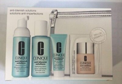 Clinique Acne Anti-Blemish Solutions 3-Step System 5pc Set Kit NIB