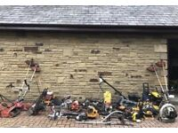 Job lot of Garden machinery, spares or repairs