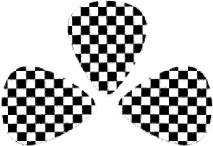 73020 Ska Checkered Rude Boy Girl Check Marks Mod Black & White Pack of 3 Picks