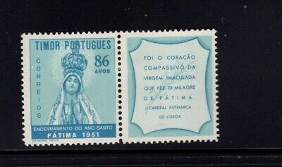 Timor 1951 Holy Year Lady Fatima with Label MLH Sc 270