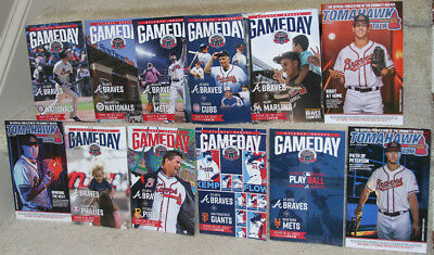 Lot Of 12 Atlanta   Gwinnett Braves Gameday Programs   Freddie Freeman  Suntrust