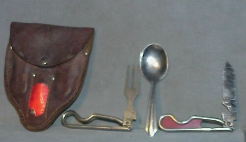 Vintage Boy Scouts Of America Utensils Set Geo Schrade Knife fork spoon 1942