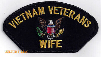 - WIFE VIETNAM VETERAN HAT PATCH US ARMY MARINES NAVY USCG AIR FORCE PIN UP GIFT