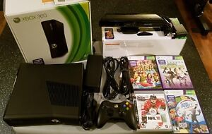 XBOX 360 incluant Kinect + 1 manette + 4 jeux